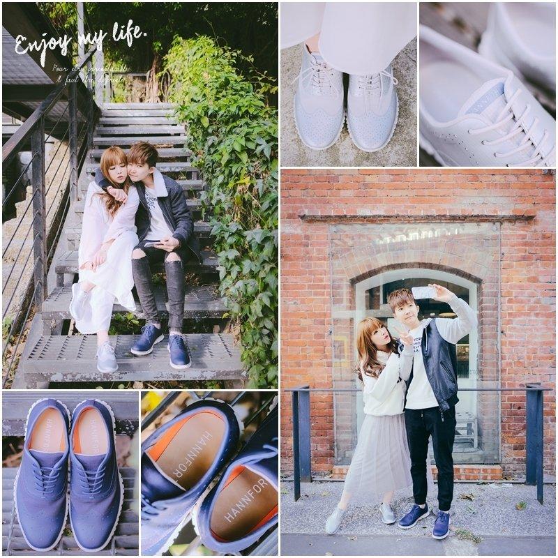 穿搭 ♥ 我們的HANNFORT情侶穿搭。ZERO GRAVITY牛津雕花氣墊鞋 ♫