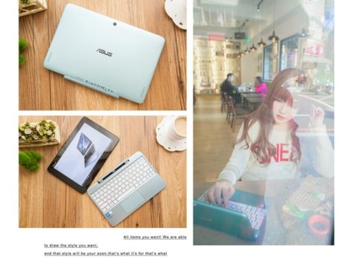 3C ♥ 我的工作、休閒生活都有它相伴。超適合女孩的美型湖水藍輕薄變形筆電 ASUS Transformer Book T100HA ♫