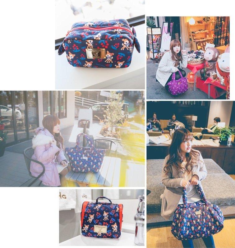 穿搭 ♥ 陪我漫遊東京的萌萌哈妮鹿。VOVAROVA空氣包讓我更愜意輕鬆享受旅行 ♫