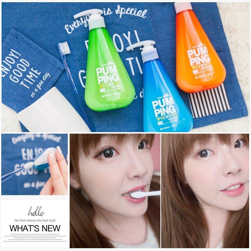 美齒 ♥ 韓國最暢銷 宋仲基愛用款→LG PERIOE PUMPING 按壓式美白牙膏 ♫
